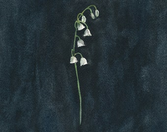 Remember: Lily of the Valley, Original Watercolour Painting, floral