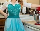ELSA   apron for women full apron for dress up or baking princess apron