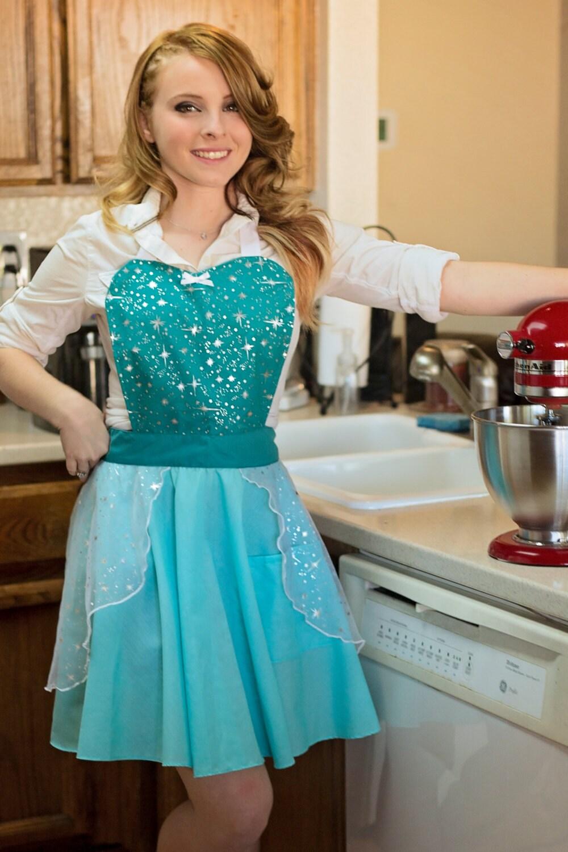 elsa apron for women full apron for dress up or baking. Black Bedroom Furniture Sets. Home Design Ideas