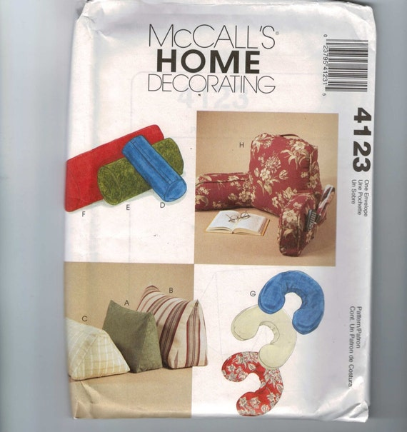 Home Decor Sewing Ideas: Home Decor Sewing Pattern McCalls 4123 Husband Wedge Bolster
