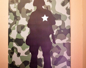 LARGE Army Military Party Pin the Medal on the Soldier Game