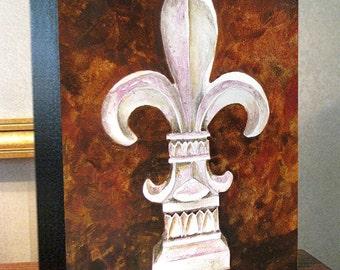 """Fleur de Lis Art """"Fleur Ceramique"""" 8x10x1.5"""" and 11x14x1.5"""" Gallery Wrap Canvas Prints Signed and Numbered"""