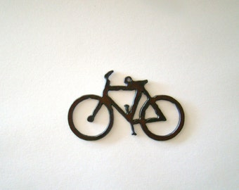 Bicycle Recycled Metal Pendant Cutout
