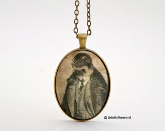 Hedgehog Necklace, Weird Jewelry, Pendant Charm, Hedgehog, Animal Necklace, Gift for Her, Hedgie, Creepy Cute, Oddity Curiosity, Weird Art