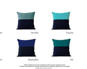 Custom OUTDOOR Color Block Pillow Cover (20x20) by JillianReneDecor - Two Tone Colorblock
