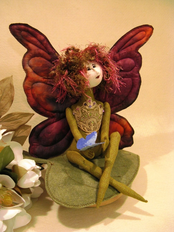 Cloth Doll E-Pattern 11 inch Fairy Butterfly Art Doll