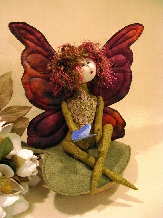 Cloth Doll E-Pattern 11 inch Fairy Butterfly Art Doll