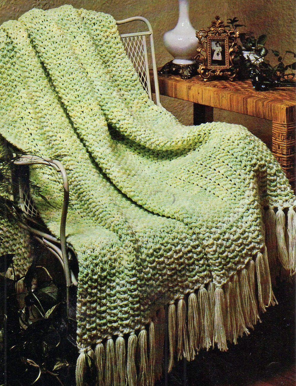 Afghan Knitting Pattern Thick and Quick Simple Afghan