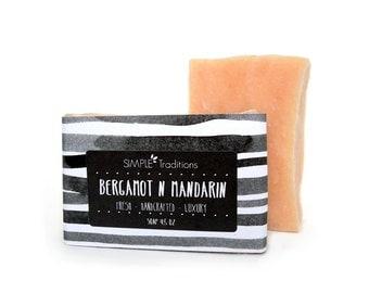 Soap Bergamot and Mandarin Handmade Vegan Soap Bar