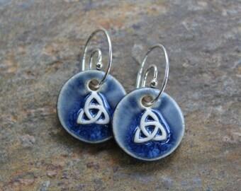 Blue Trinity Earrings