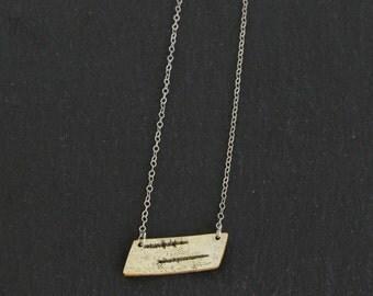 Birch bark necklace, Short Point