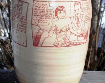 tijuana bible vase handmade ceramic