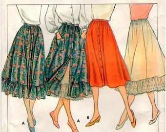 Vintage Butterick Pattern 4213 - Misses Skirt & Petticoat - 6-10