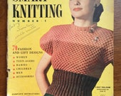 Vintage Winter 1946-47 Smart Knitting and Crochet Book Number 1