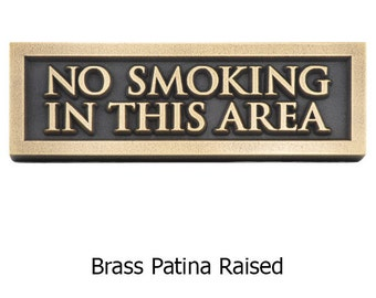 No Smoking Area Sign 12x4 inches Made in the USA by AtlasSignsandPlaque