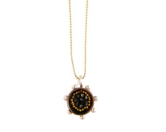 Golden Pixels Pyrite Necklace