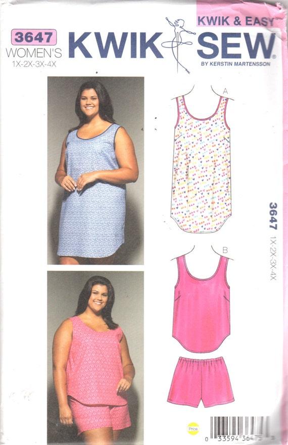 Kwik coser 3647 Womens suéter fácil camisón y tracción superior en ...