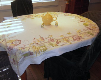 Vintage Tablecloth The Party Was a Success