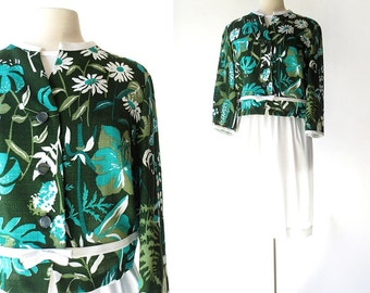 Vintage 1960s Dress | Summerlush | Two Piece Dress | 60s Dress | M L