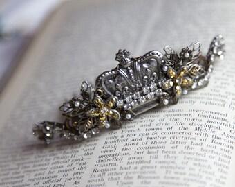 Jeweled Demi Crown , Steampunk Crown