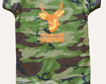 I'm Told I Like Hunting Graphic Baby bodysuit