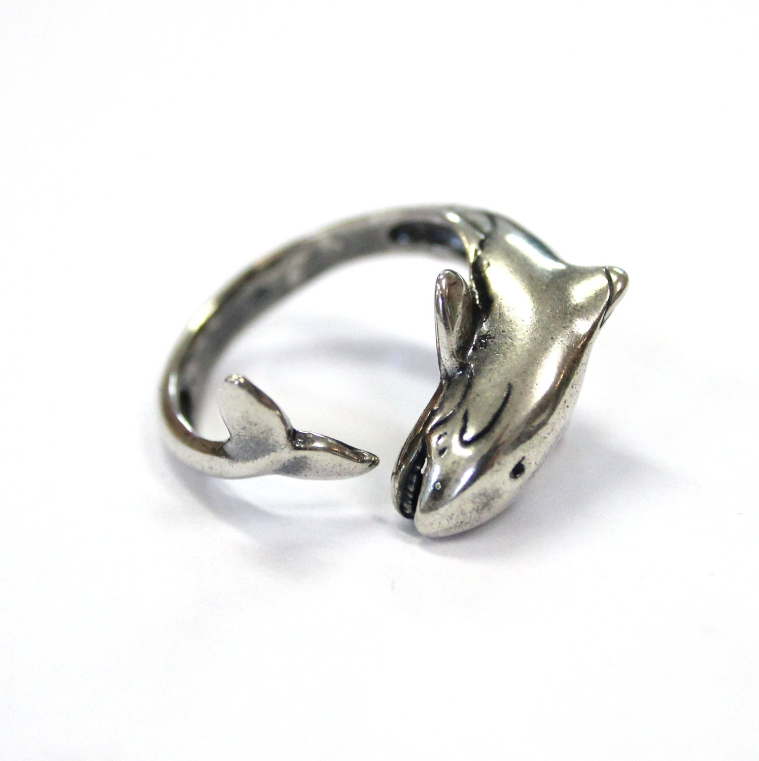 orca ring silver killer whale wrap ring orca jewelry 430