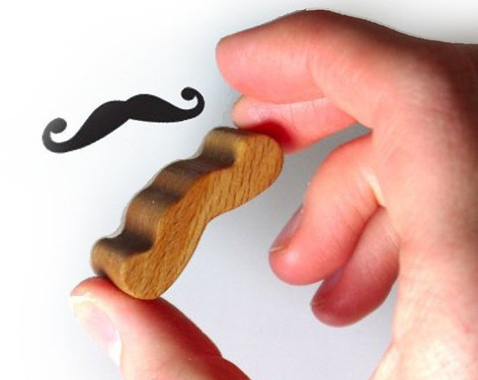 Moustache Scrapbooking Stamp from Wood and Rubber