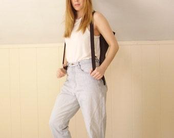 Ultra Light Blue Boyfriend Easy Fit Denim Jeans - Vintage 90s - MEDIUM M