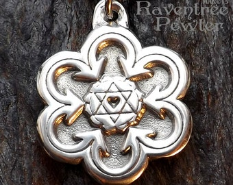 Heart Chakra - Pewter Pendant - Opening the Heart and finding Inner Balance Jewelry