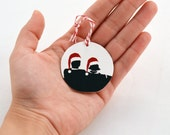Mad Men Christmas ornament,  Our first Christmas, Gift under 10