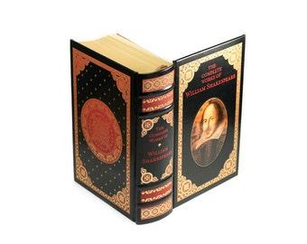 William Shakespeare Large Hollow Book Box Booksafe Handmade Groosmen Best Man Gift Classic With Magnet Option- CUSTOM ORDER
