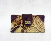 ReServed .. Into the Wild Keepsake Wallet . earthy brown bohemian tapestry