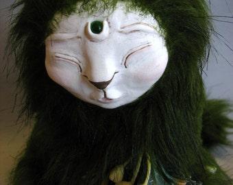 Sleeping Garden Sphinx - Handmade OOAK Art Doll