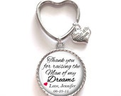 Mother of the Groom Gift, Personalized Keychain, Mother of the Groom Keychain, Wedding Kechain, Style 581