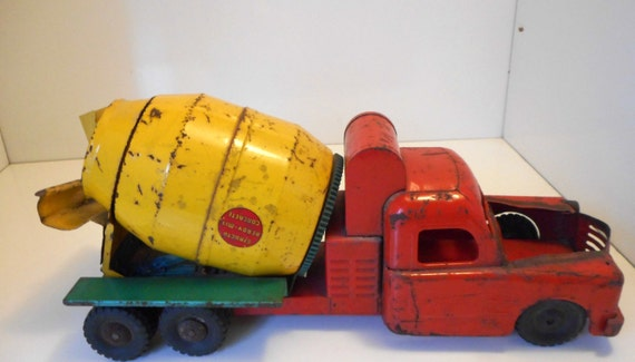 1950s structo cement mixer truck usa vintage by nanascottagehouse