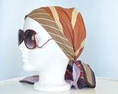 Vintage 1980s Vera Scarf // Headband Head wrap // 100% silk