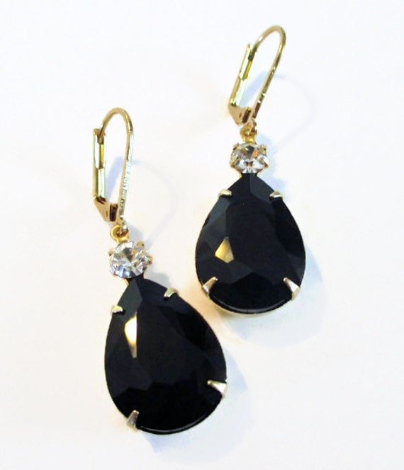 black and white earrings earrings prom by