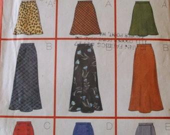 Butterick 5154 Misses Skirt Pattern ,9 Nine Sew Fast & Easy Skirt Pattern  Size 6,8,10,