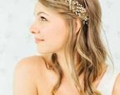 Wedding Hair Wreath | Bridal Hair Accessories | Gold Hair Wreath [Marielle Hair Wreath]