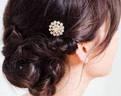 Gold Small Wedding Hair Pins | Gold Crystal Hairpins | Gold Rhinestone Bridal Hair Comb [Lisette Hairpin: Gold]