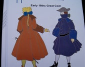 SALE   Early 18th Century Great Coat  Pattern Reconstructing History Clothing Pattern  Rh710