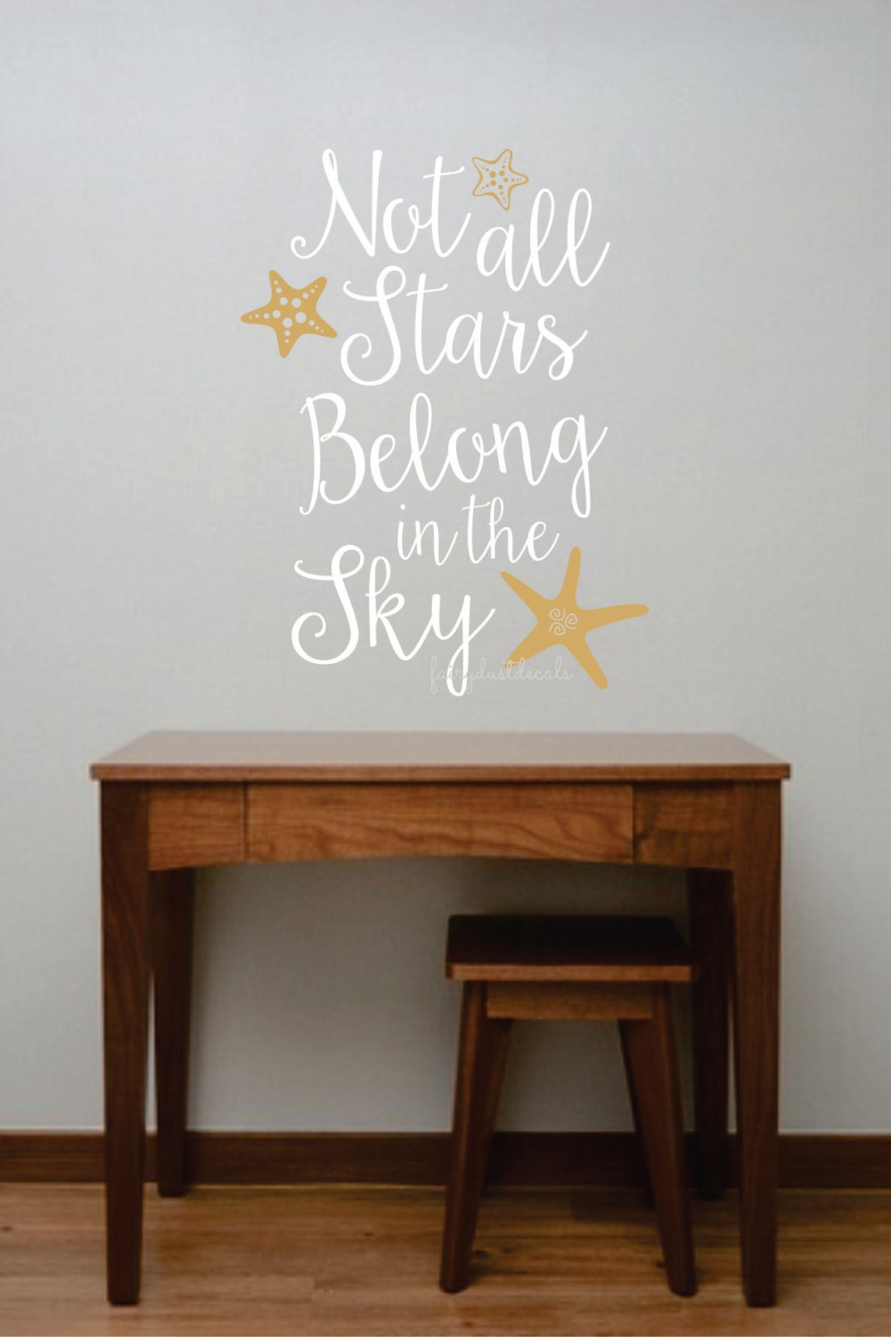 starfish wall decal not all stars quote vinyl lettering zoom