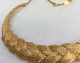 Fabulous 1970s Braided Gold Necklace