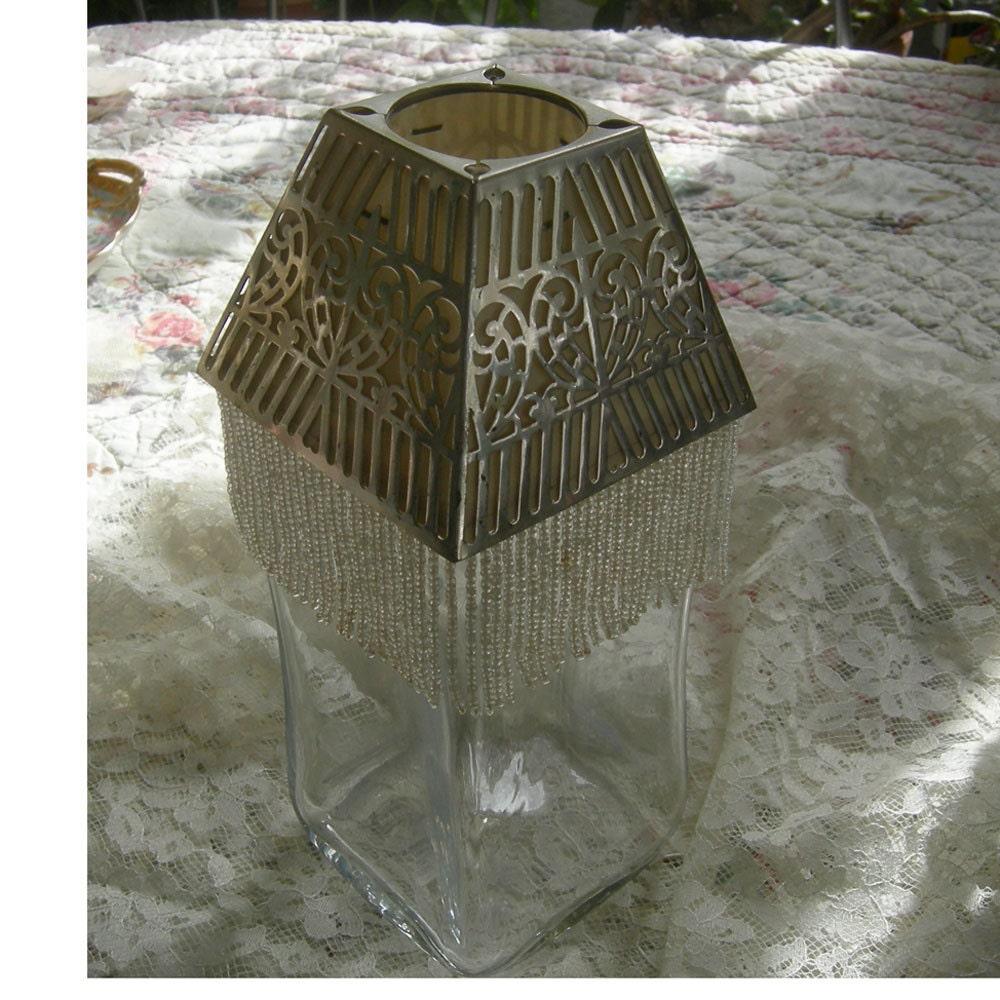 Art Deco Lamp Shades: Vintage Art Deco Lamp Shade 1920's Shade Beaded Fringe