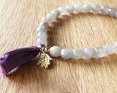 Labradorite gemstone, mala, healing bracelet, hamsa hand charm, reiki charged, chakra clearing, bohemian, angels, yoga style, boho bracelet
