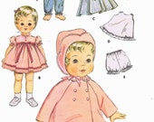 PATTERN 2520 Vintage Doll Clothes for 16 inch Kissey Tiny Tears Betsy Wetsy Toodles by Ideal of the 1950s