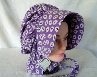 Prairie bonnet - completely adjustable - pioneer - many colors to choose from