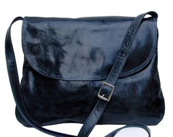 Leather Solo satchel handbag