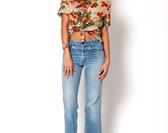 The Vintage Bill Blass Hawaiian Print Button Up Shirt