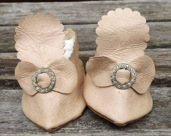 Vintage Large Doll Shoes for Bisque French Doll Shoes or German Bisque Dolls